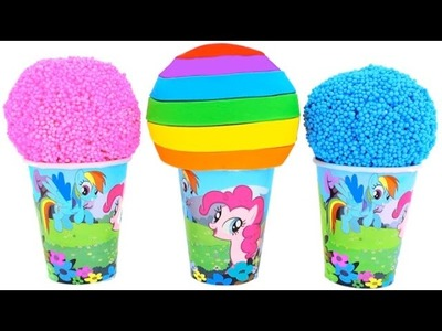 My Little Pony Foam Clay & Play Doh Ice Cream Cups MLP RainbowLearning