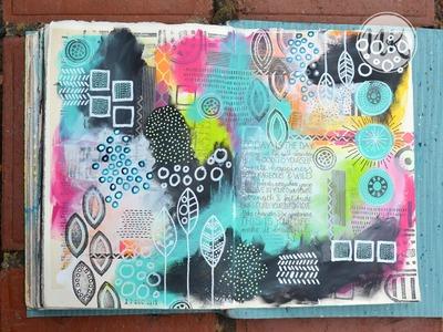 Nat's art journal tutorial 22nd December 2015