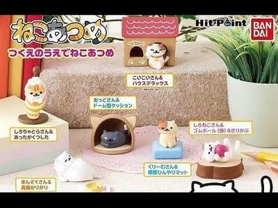 Neko Atsume Desktop Gashapon Figures Review
