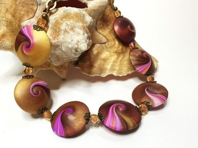 New Polymer Clay Class! Learn How To Make These Swirly Lentil Beads