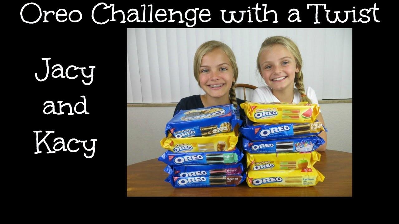 Oreo Challenge with a Twist ~ Jacy and Kacy