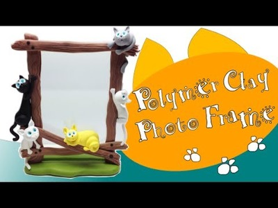 Polymer clay Photo Frame. Moldura Fimo- Tutorial