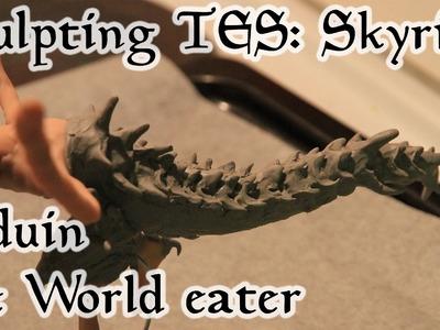 Polymer Clay Skyrim - Alduin dragon part 1. sculpting
