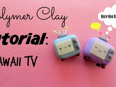 Polymer clay Tutorial: Kawaii TV charm