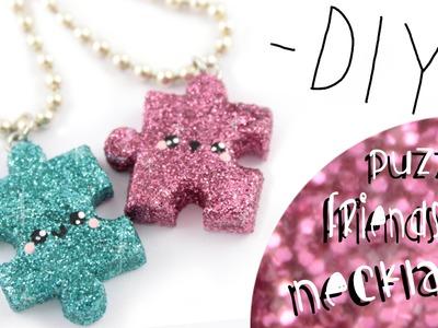 Puzzle Friendship Necklaces! -DIY- | Kawaii Friday