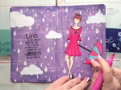 Art Journal Page - Dance In The Rain