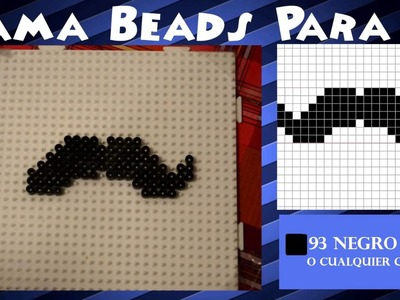 Bigote. Moustache - Tutorial Hama beads