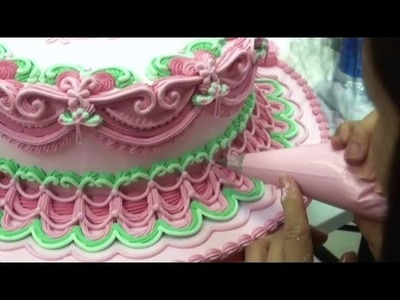 CAKE DECORATING TECHNIQUES - WEDDING CAKES - HOW TO PIPE ROYAL ICING DEMONSTRATIONS. IDEAS