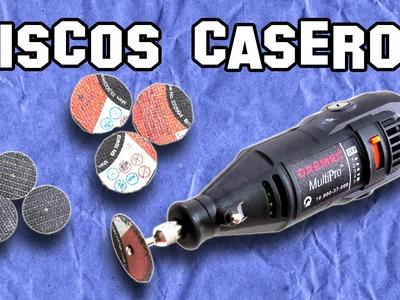✔ Cómo Hacer Discos Caseros para Dremel | How to Make Homemade Discs for Dremel