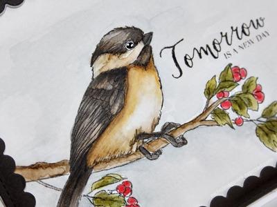 Distress Ink Watercoloring | Bird