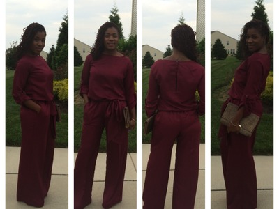 "DIY Needles and Fashion The ""Gwen"" jumpsuit"