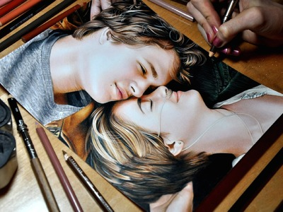 Drawing Hazel Grace and Augustus Waters (The Fault In Our Stars)