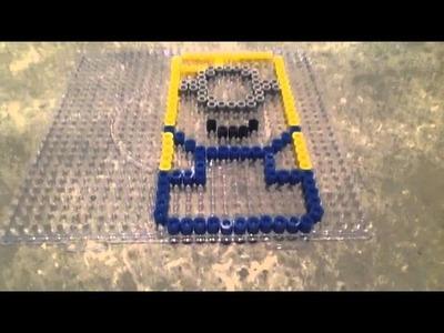Funda movil minion Hama Beads :)