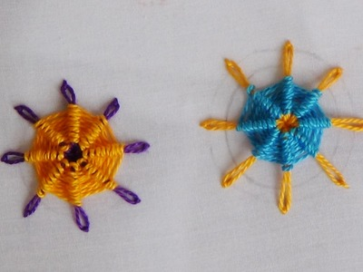 Hand Embroidery: Raised Spider Daisy Stitch