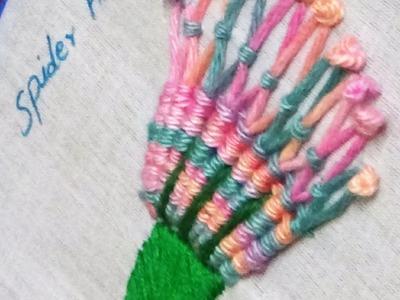 Hand  Embroidery - Spider Hand Stitch
