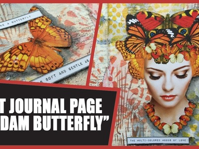 How to: Art Journal Page - Madam Butterfly