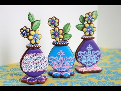 How to Assemble 3-D Cookie Bud Vases
