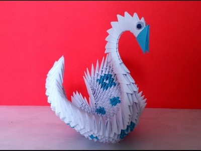 How to make 3d origami swan (2 colors)