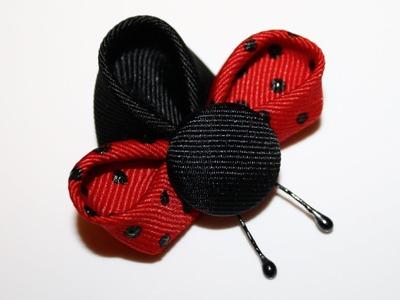 Ladybug Ribbon Sculptures - Kanzashi Tutorial #6