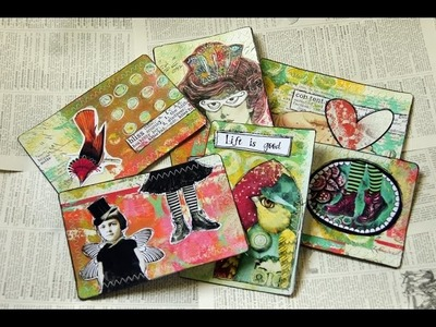 Mail Art Postcards - Heart Journaling Video #8