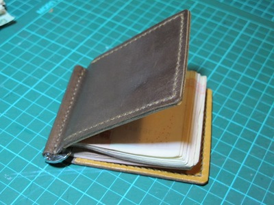 Making a Leather money clip