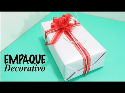 MANUALIDADES. DECORACIONES.COMO ENVOLVER REGALOS FACIL. How to wrap easy.Empaque decorativo