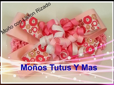 Moño con Liston Rizado pap HAIR BOW WITH KORKER RIBBON liston korker