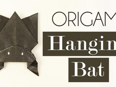 Origami Hanging Bat for Halloween