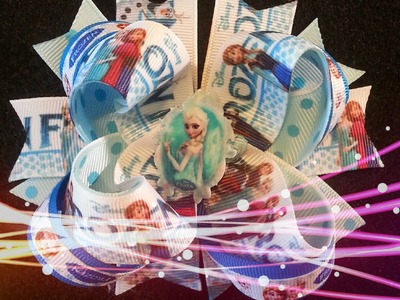 Paso a paso Moño Boutique - Parte 2 Stacked Boutique Frozen boutique bow tutorial diy