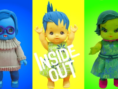 "Play Doh ""INSIDE OUT""  Joy, Sadness,Disgust (Toddler Doll)  Inspired Costumes"