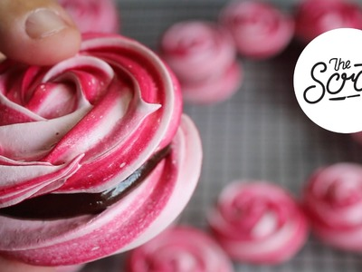 ROSE MERINGUE COOKIES WITH CHOCOLATE GANACHE - The Scran Line