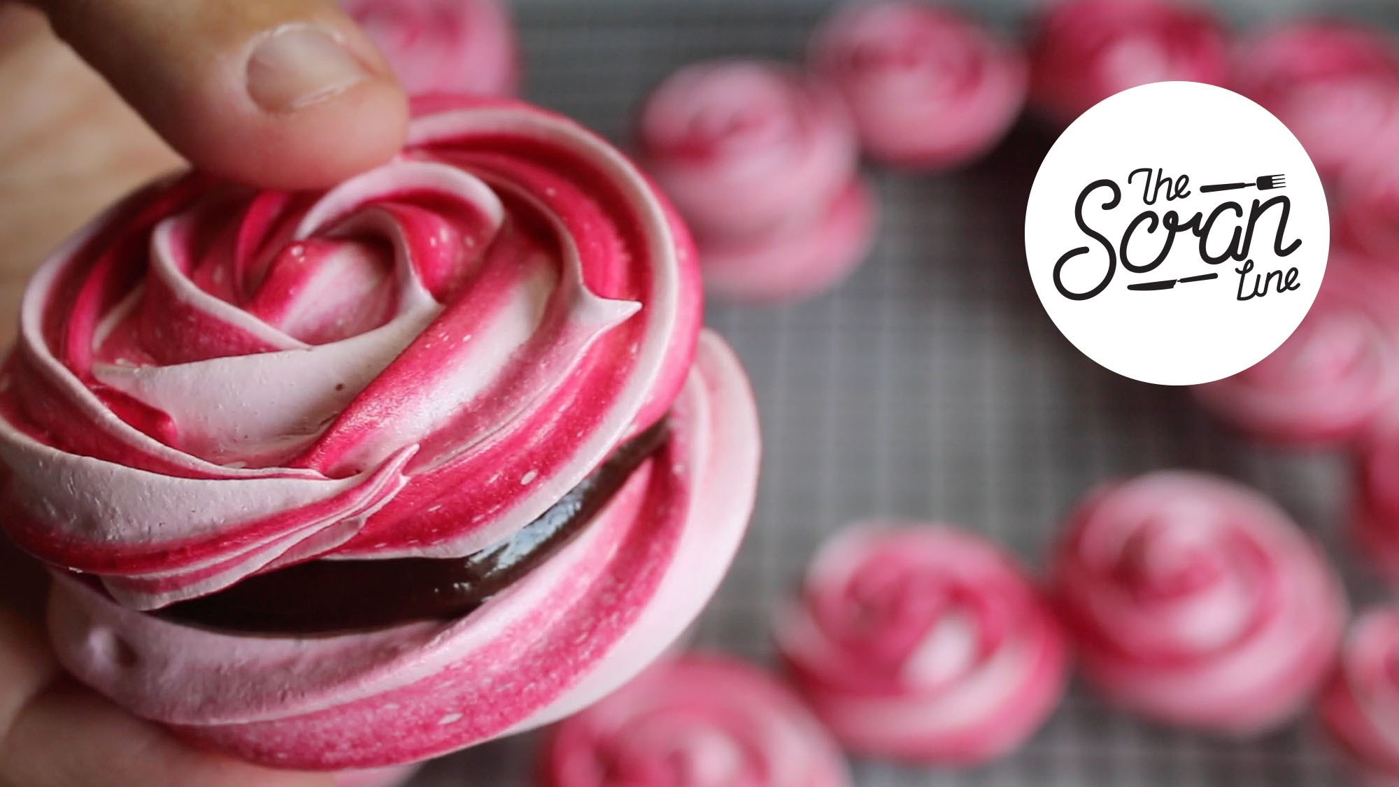 ROSE MERINGUE COOKIES WITH CHOCOLATE GANACHE - The Scran ...