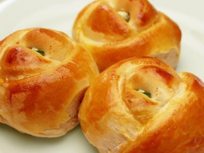 Rose Shaped Dinner Rolls Recipe - Turkish Pogaca Pastry