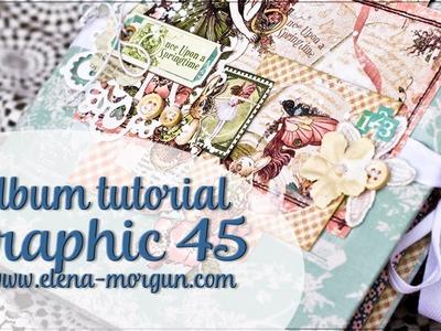 Scrapbooking Baby Album Tutorial from Elena Morgun for GRAPHIC 45