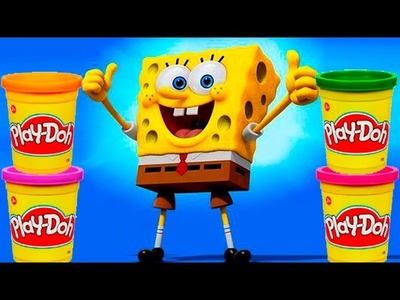 Spongebob Play doh STOP MOTION video. Animación de Bob Esponja con Plastilina