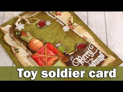 Toy soldier card