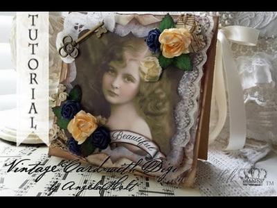 Vintage Card Tutorial with Digi to Purchase