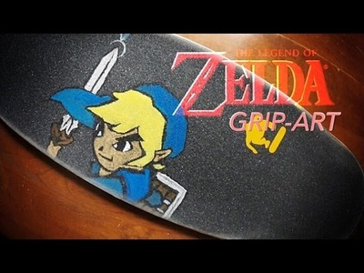 Zelda Grip-art: Toon Link skateboard time-lapse