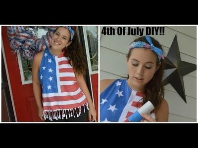 4th of July DIY! American Flag t-shirt + Confetti popper!