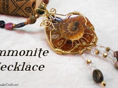 Ammonite Necklace (Part 2 of 2) Tutorial