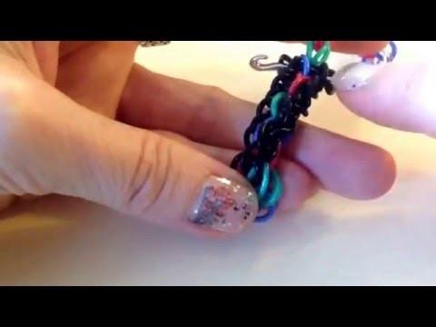 Crossed Wires.Telephone Exchange bracelet tutorial (hook only) rainbow loom bands