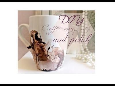 DIY coffee mugs with nail polish!