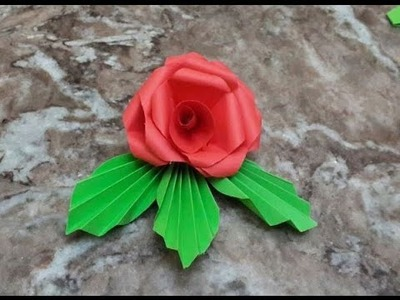 DIY Crafts - How to Make Beautiful Paper Flowers - Tutorial .