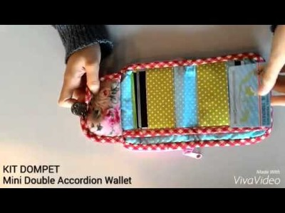 "DIY: Detail KIT Dompet ""Mini Double Accordion"""