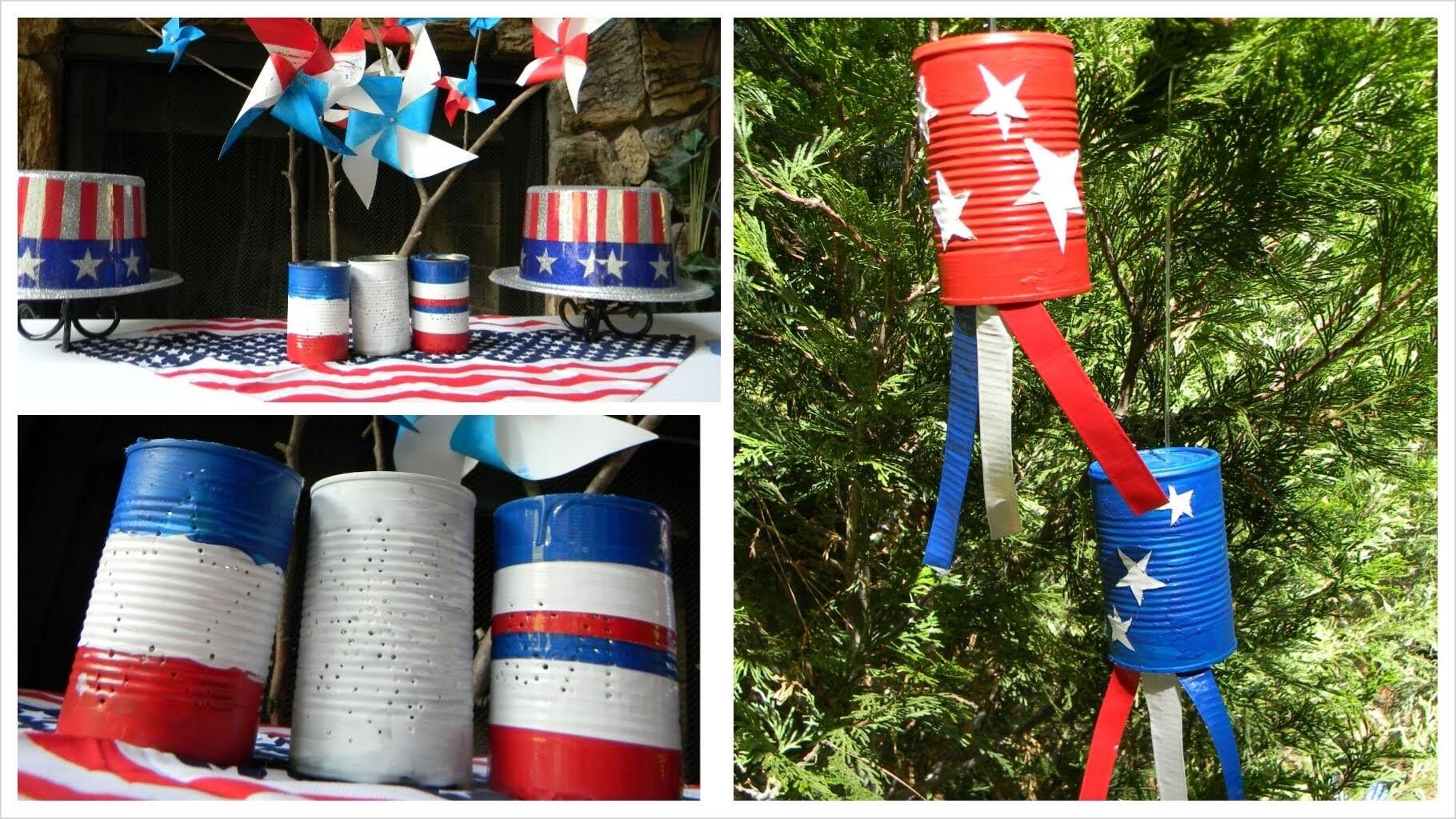 Diy Duct Tape Fourth Of July Lanterns & Windsocks
