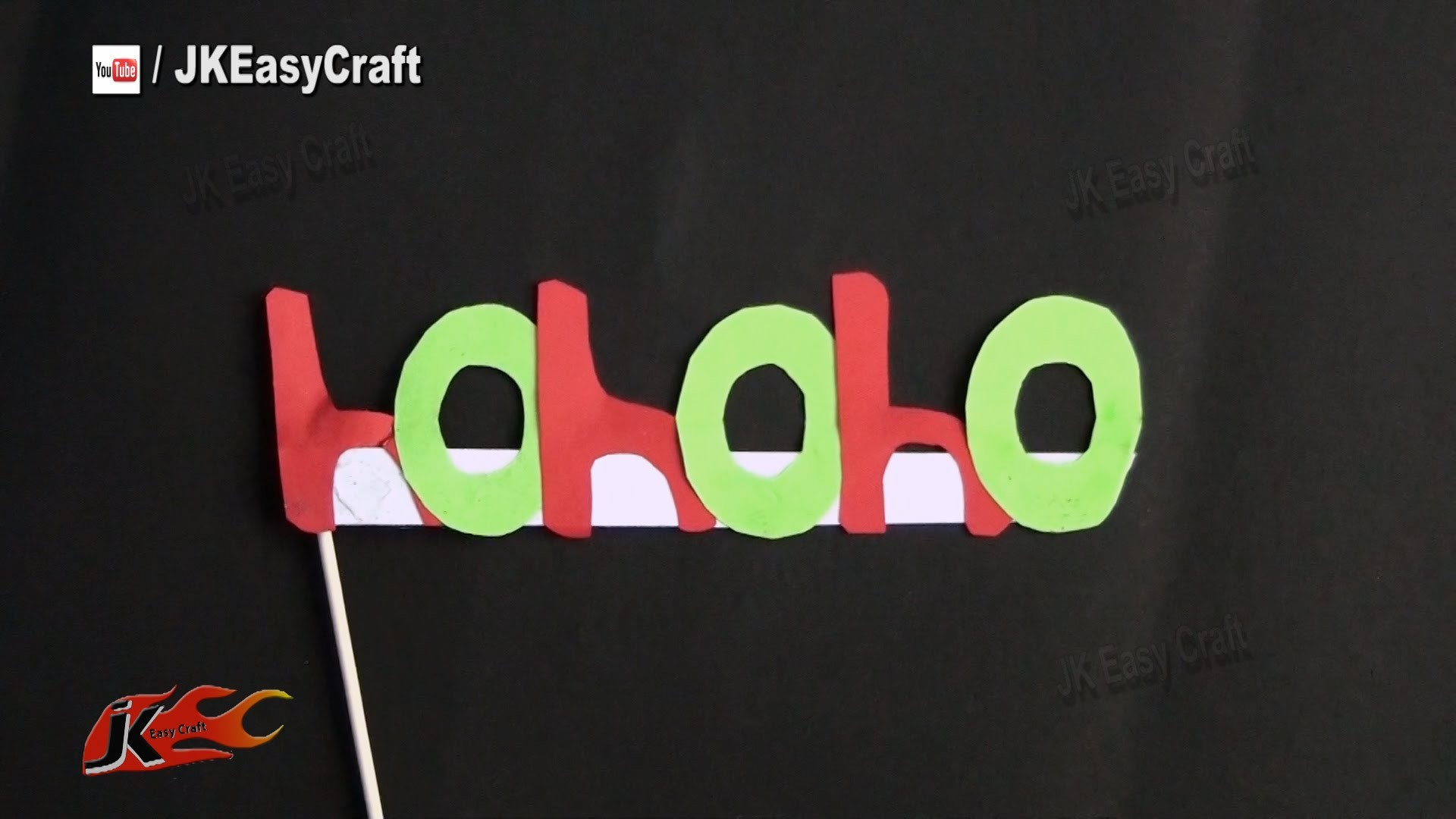 DIY Easy Christmas Party Prop| Photo Booth Props | How to make | JK Easy Craft 108