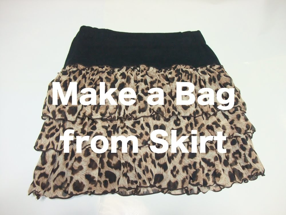 "DIY""From Kyoto:  Make a Bag from this mini skirt"