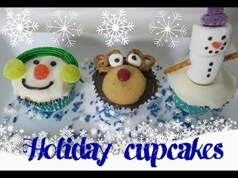 DIY Holiday Snowman and Rudolph Cupcakes - Sharron's Take