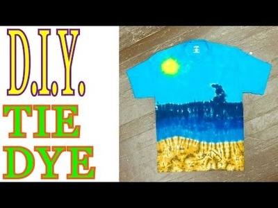 DIY How to Tie Dye an Ocean Scene [Long Tutorial] #23