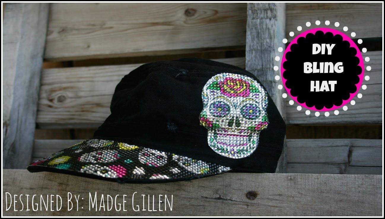 DIY Sugar Skull Ball Cap